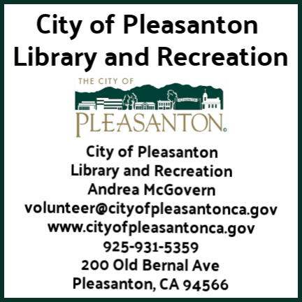 City of Pleasanton Parks and Rec. Dept. contact info and logo
